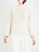 Pringle High-neck cable-knit wool and cashmere jumper