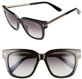 Tom Ford Women's 'Tracy' 53Mm Retro Sunglasses - Black/ Smoke Gold
