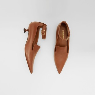Burberry Leather Point-toe Kitten-heel Pumps