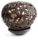 Coconut Shell Sculpture with Stand, 'Dancing Dragonflies'