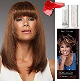 4 Item Bundle: (#717A) Sienna Exclusive Colors Wig by Jon Renau, Human Hair Shampoo, Chiffon Scarf, Hairuwear Hairloss Booklet (24B22RN)