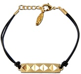 Ettika Small Pyramid Row Leather Bracelet