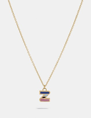 Coach 80'S Retro Alphabet Z Charm Necklace
