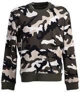 Valentino Studded Camouflage Cotton Sweater