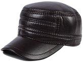 RACHAPE Mens' PU Leather Baseball Cap Winter Warm Hats With Ear Flap