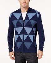 Alfani Men's Zip-Front Triangle Cardigan, Created for Macy's