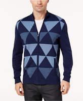 Alfani Men's Zip-Front Triangle Cardigan, Created for Macy's
