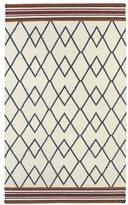 Tribeca Flatweave Ziggy Grey Wool Rug (2' x 3')