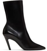 Balenciaga Black Slash Heel Boots
