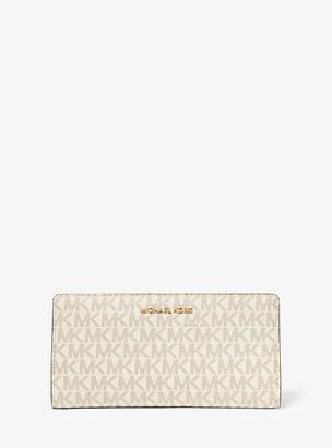 MICHAEL Michael Kors MK Large Logo Slim Wallet - Vanilla/acorn - Michael Kors
