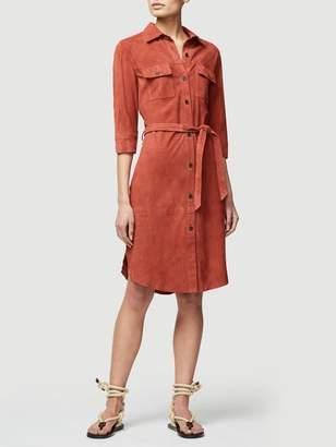 Frame Suede Military Shirt Dress