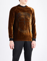 Astrid Andersen Logo-embroidered velour sweatshirt