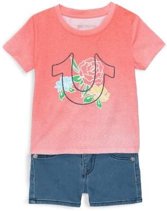 True Religion Baby Girl's 2-Piece Top & Shorts Set