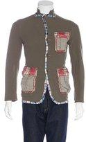 Comme des Garcons Patchwork Plaid-Trimmed Jacket