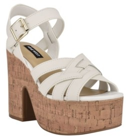 Nine West Women's Cheers Strappy Platform Sandals Women's Shoes