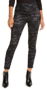 Vanilla Star Juniors' Camo Print High-Rise Jeans