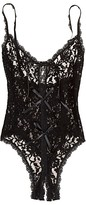 Hanky Panky After Midnight Signature Lace Open Panel Teddy Bodysuit