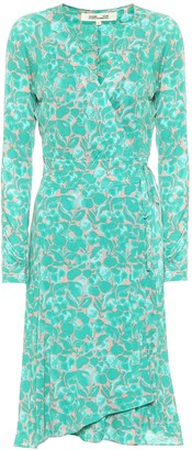 Diane von Furstenberg Karina printed silk crepe wrap dress