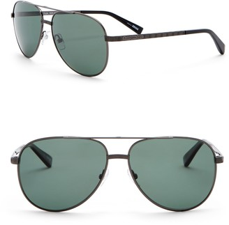 Ermenegildo Zegna Polarized 60mm Aviator Sunglasses