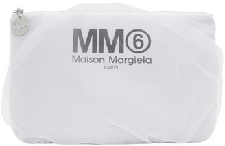 MM6 MAISON MARGIELA White Tulle-Covered Pouch