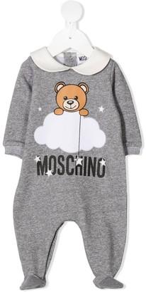 MOSCHINO BAMBINO Teddy print cotton babygrow