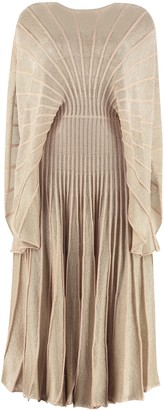 Stella McCartney Ribbed Lurex Knit Dress