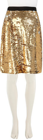 Dorothy Perkins Gold sequin pencil skirt