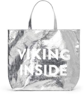 Vanessa Bruno Large silver Viking Inside tote bag