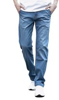 4Chiclife Men's Big Tall Relaxed Straight-Fit Lightweight Jean 46