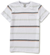 Calvin Klein Big Boys 8-20 Striped Short-Sleeve V-Neck Tee