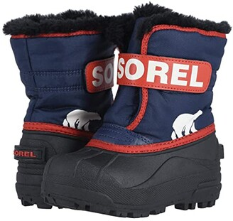 Sorel Kids Snow Commander (Toddler/Little Kid) (Nocturnal/Sail Red) Boys Shoes