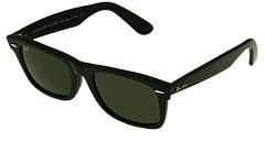 Ray-Ban 2151 Wayfarer Square 52 Large (Black/Crystal Green Lens) - Eyewear
