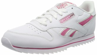 Reebok CL Lthr Ripple III V59227 Unisex Kids' Low-Top Trainers Mehrfarbig (White 001) 3 UK (34.5 EU)