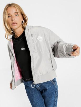 Stussy Graffiti Bomber Jacket in Grey