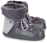 Inuikii Grey Rabbit Fur Winter Boots