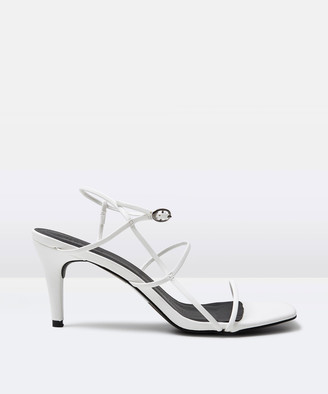 Alice In The Eve The Cindy Strappy Heel White