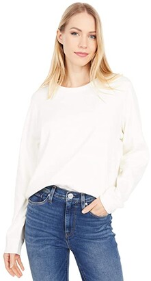 Lilla P Modern Classics Easy Seamed Tee (Winter White) Women's Clothing