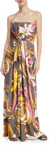 Marc Jacobs Strapless Twist-Front Jersey Gown