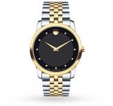 Mens Movado Museum Diamond Watch 0606879