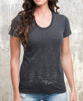 Etsy Stars and Night Landscape - American Apparel Women's T-Shirt - Heather Black