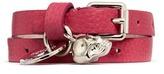 Alexander McQueen Double wrap skull leather bracelet