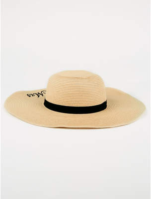 George Mrs Embroidered Floppy Hat