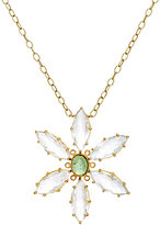 Cathy Waterman Women's Mixed-Gemstone Flower Pendant Necklace