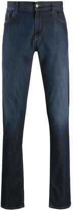 Canali High-Rise Straight Leg Jeans