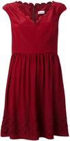 RED Valentino scalloped edge skater dress