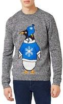 Topman Men's Penguin Holiday Sweater