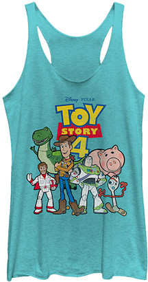 Fifth Sun Women's Tank Tops TAHI - Toy Story 4 Tahiti Blue Toy Crew Raw-Edge Racerback Tank - Women & Juniors