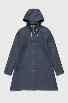Stutterheim Mosebacke Navy Womens Raincoat - xxxs | navy blue - Navy blue