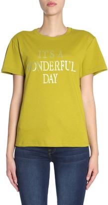 Alberta Ferretti T-shirt With its A Wonderful Day Print