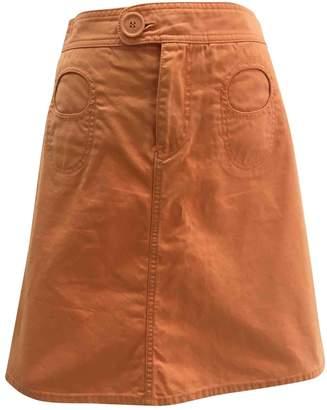 Marc Jacobs Orange Cotton Skirts